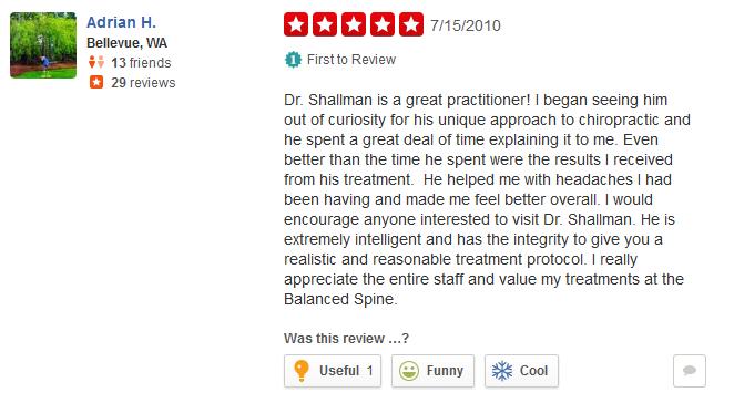 Back in Balance Chiropractic Reviews Redmond WA